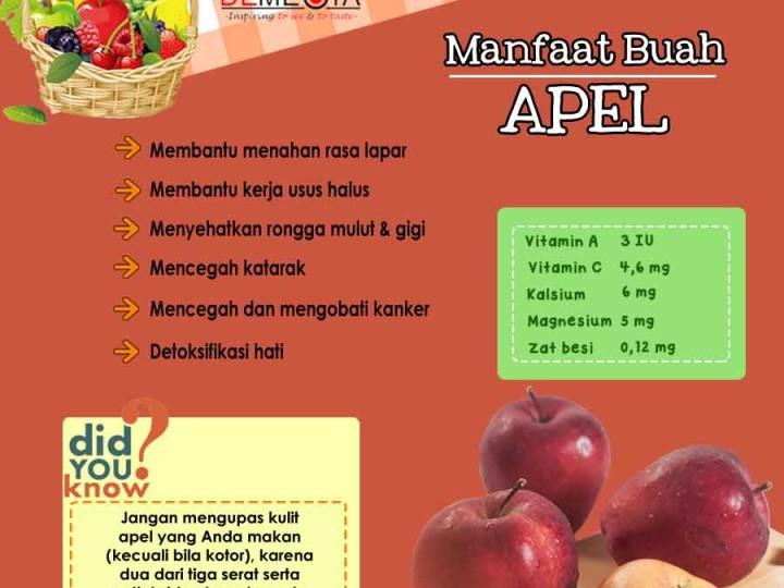 Info Grafis: Manfaat Buah Apel