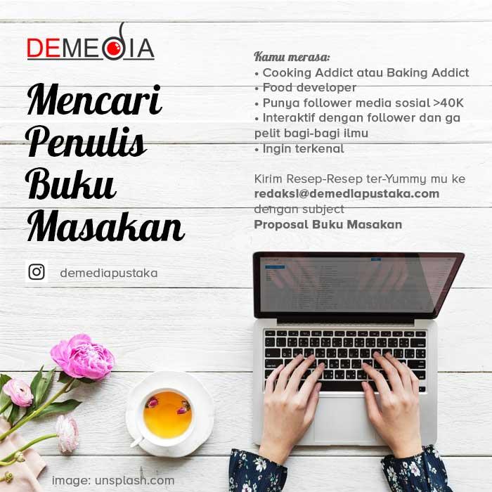 demedia mencari penulis buku masakan